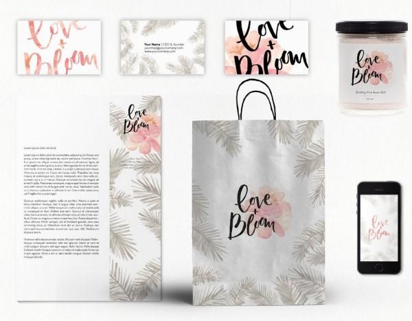 pretty and feminine corporate design