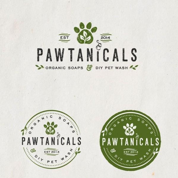Pawtanicals logo design