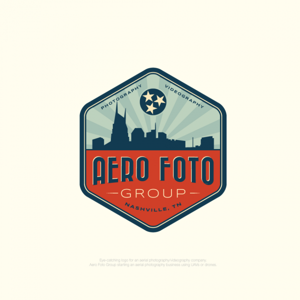Photography logo with vintage font