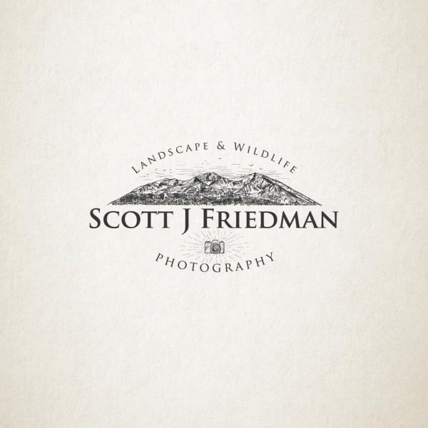 Photography logo with illustration
