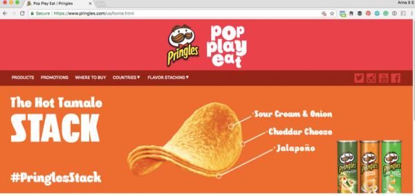 Pringles website