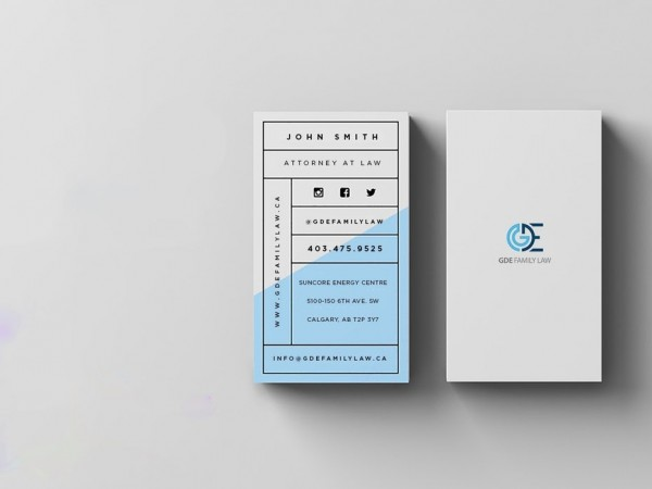 GDE Family Law business card
