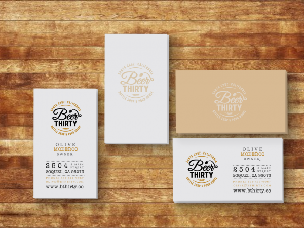 Beer Thirty business card