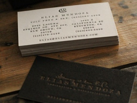 Elias Mendoza business card