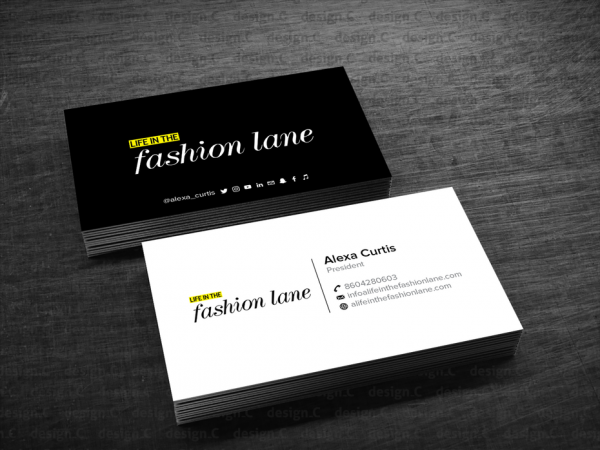 A Life In The Fashion Lane business card