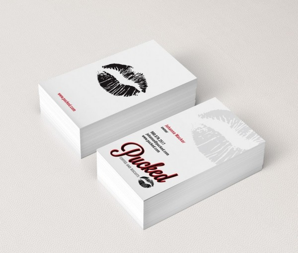 Pucked business card design