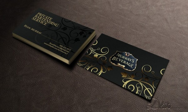 Murray's Beverage business card design