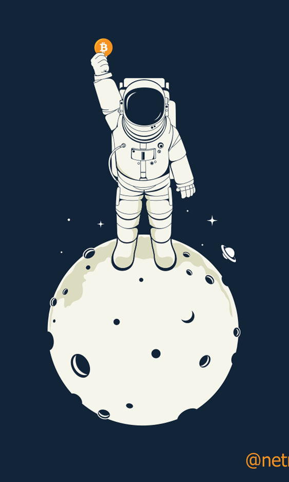 Astronaut on moon t-shirt design