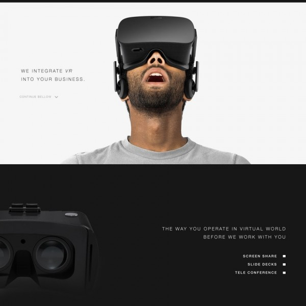 Website for a VR Company