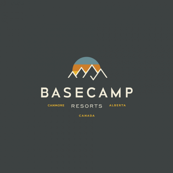 Basecamp Resorts  logo  design