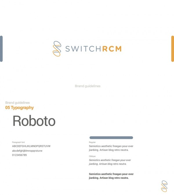 SWITCHRCM brand style guide