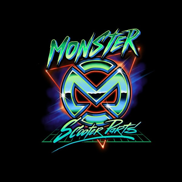 Monster scooter parts logo