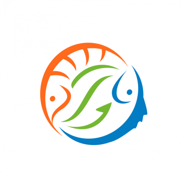 image of two fish in a circle shape