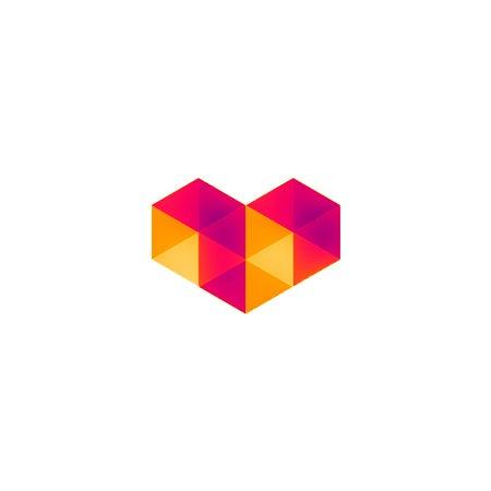 Digital love logo symbol
