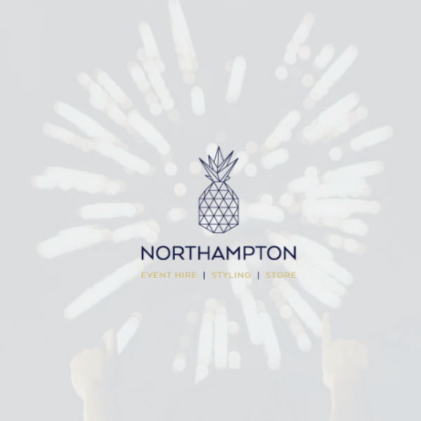 a pineapple image comprised of smaller shapes