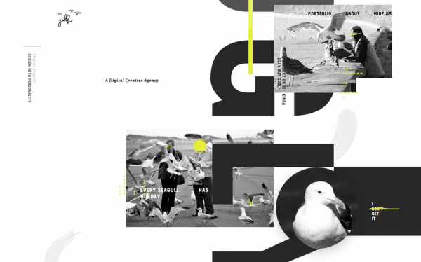 Elegant seagulls website screenshot
