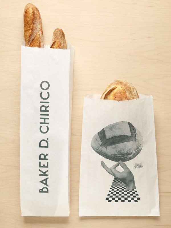 Bakery logo with photo-collage