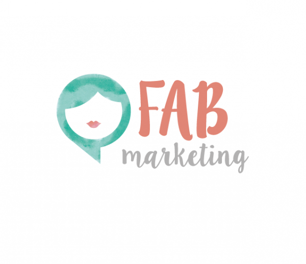 logo with watercolor within woman's hair