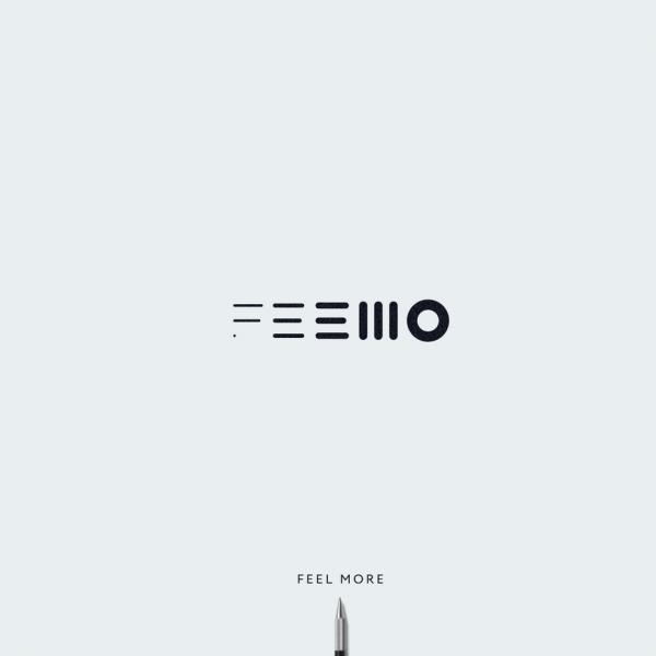 logo with minimal geometric shapes