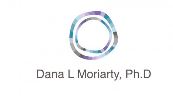 logo  with two abstract circles