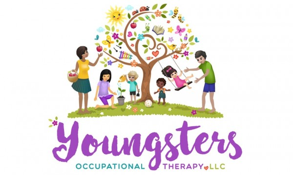 logo  with tree, children and adults
