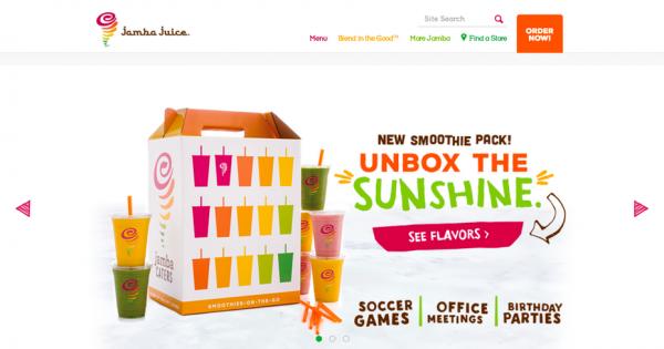 Jamba Juice website