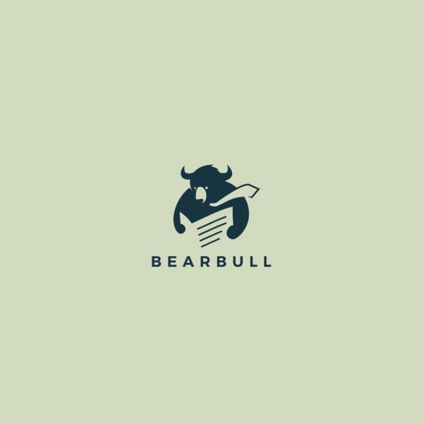 bear and bull mashup logo design