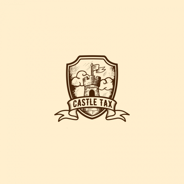 vintage castle  logo  design