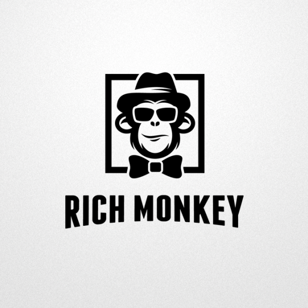 sophisticated monkey logo design