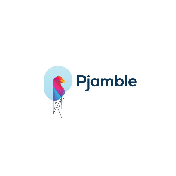 Pjamble logo design