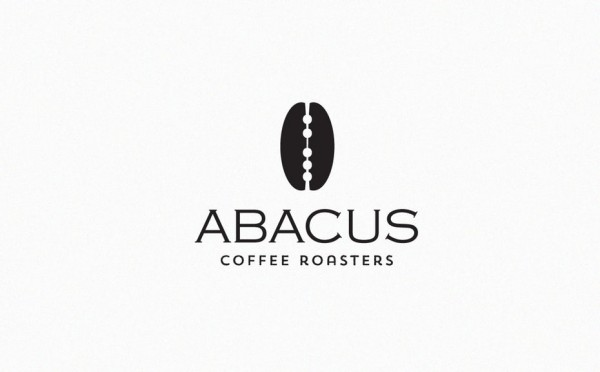 Clever abacus coffee logo design