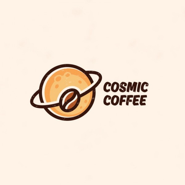 coffee bean orbit logo design
