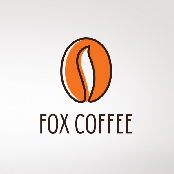 Fox coffee logo design