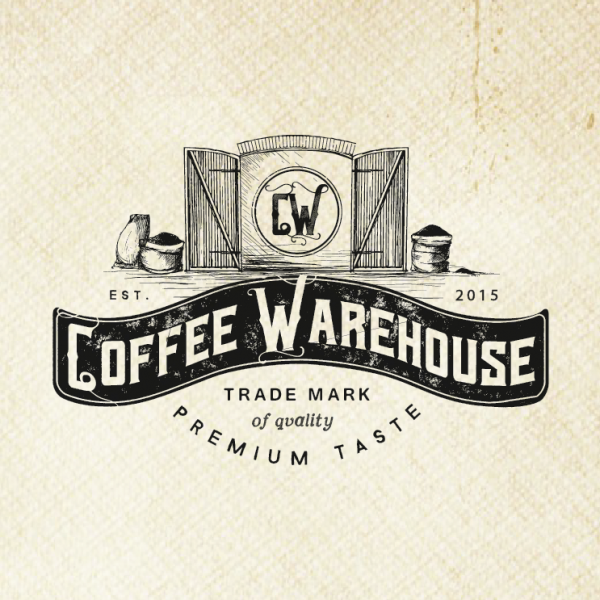 coffee warehouse logo design