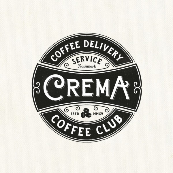Circle Cream coffee club logo design