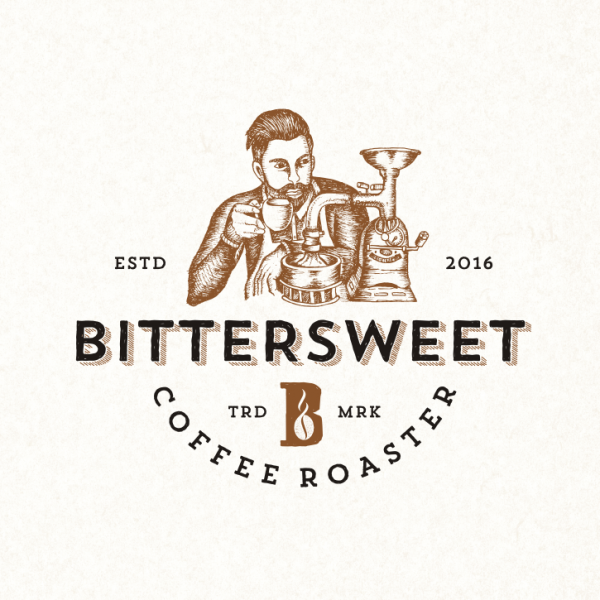 Bittersweet coffee logo design