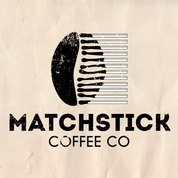 Matchstick coffee logo design