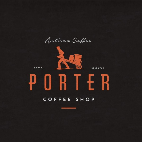 Porter coffee shop logo design