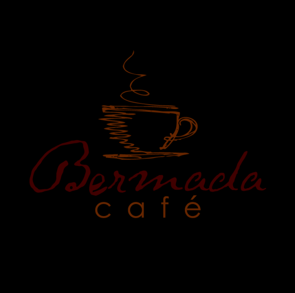 sketchy minimal cafe logo design