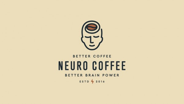 Neuro coffee logo design