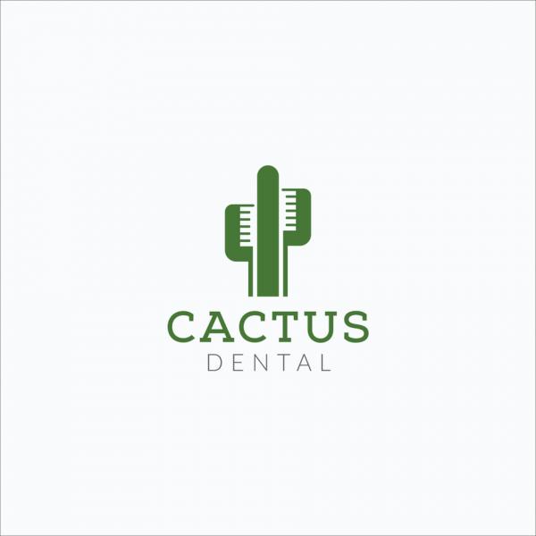 Green cactus  logo  design