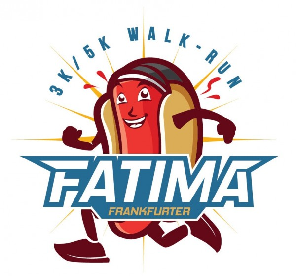 Running hot dog  logo  design