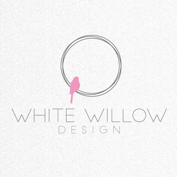 White Willow  logo  design