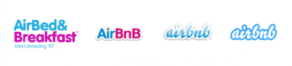 Airbnb evolving logo s