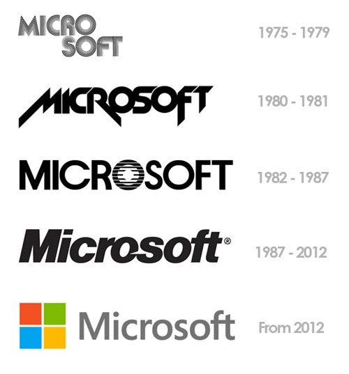 Microsoft's evolving  logo s