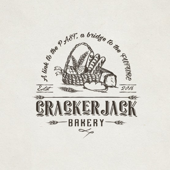 Bread-centric logo : Crackerjack Bakery