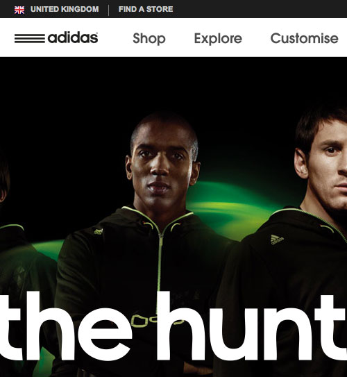 Adidas website screenshot