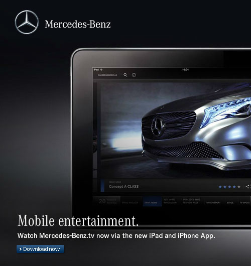 Mercedes-Benz website screenshot