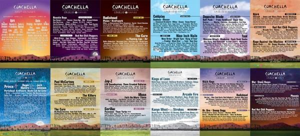 Coachella festival posters