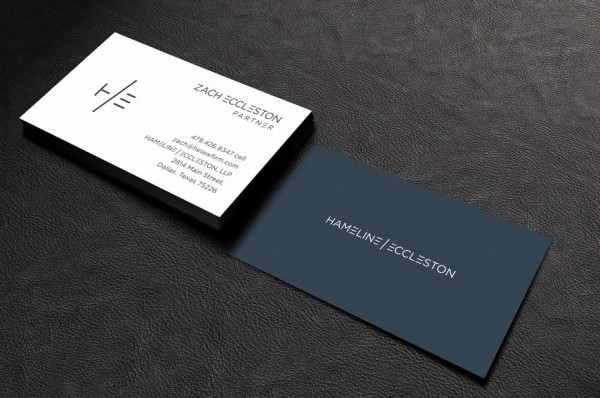 Hameline and Eccleston business card